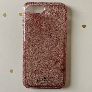 ♠️kate spade Pink Glitter iPhone 8 Plus Case